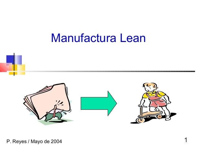 1 Manufactura Lean P. Reyes / Mayo de 2004
