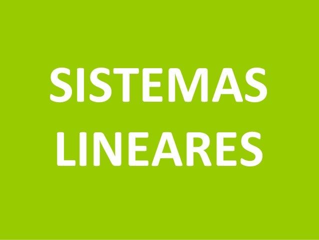 Prof.: Rodrigo Carvalho SISTEMAS LINEARES