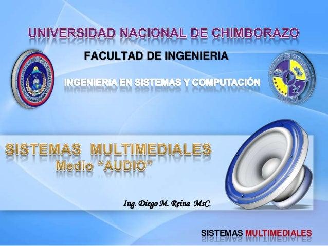FACULTAD DE INGENIERIASISTEMAS MULTIMEDIALESIng. Diego M. Reina MsC.
