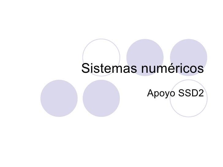 Sistemas numéricos Apoyo SSD2