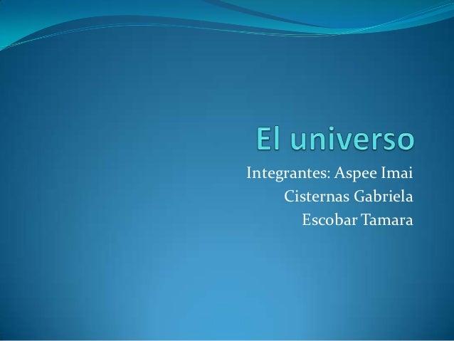 Integrantes: Aspee Imai     Cisternas Gabriela       Escobar Tamara