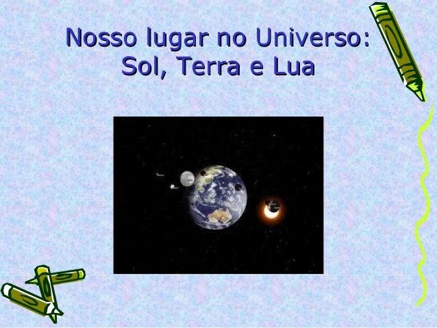 Nosso lugar no Universo:    Sol, Terra e Lua