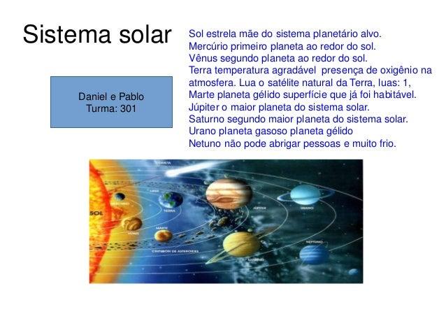 Sistema solar Sol estrela mãe do sistema planetário alvo. Mercúrio primeiro planeta ao redor do sol. Vênus segundo planeta...