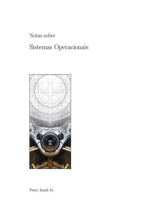 Notas sobre Sistemas Operacionais Peter Jandl Jr.
