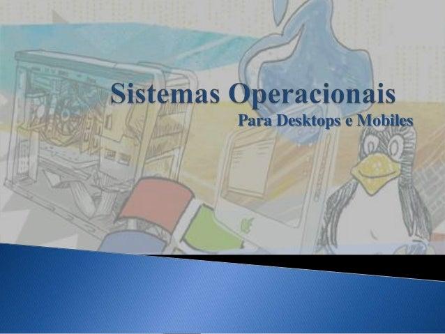 Para Desktops e Mobiles