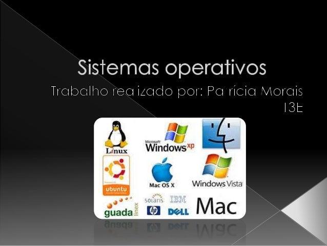  Introdução;  Windows;  Linux;  Características do Linux;  As desvantagens do S.O Linux;  Breve história sobre o Lin...