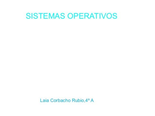 SISTEMAS OPERATIVOS  Laia Corbacho Rubio,4º A