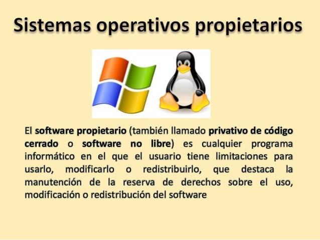 Sistemas operativos propietarios y libres