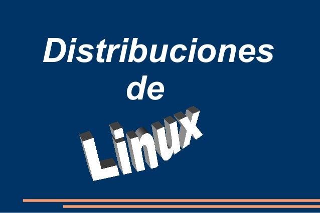 Distribuciones de