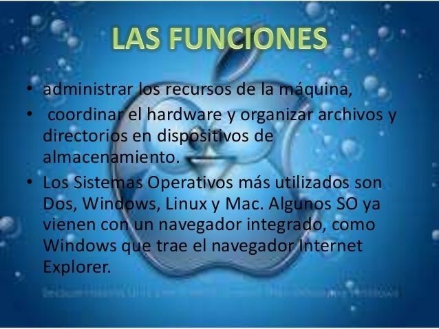 • Multiusuario: Permite que dos o más usuarios utilicen sus  programas al mismo tiempo. Algunos sistemas operativos  permi...