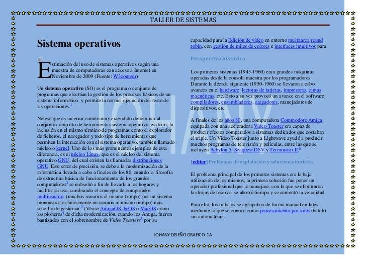 Sistema operativos<br />E<br />stimación del uso de sistemas operativos según una muestra de computadoras con acceso a Int...