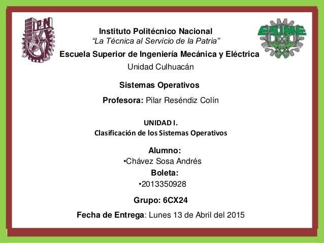 """Instituto Politécnico Nacional """"La Técnica al Servicio de la Patria"""" Escuela Superior de Ingeniería Mecánica y Eléctrica U..."""