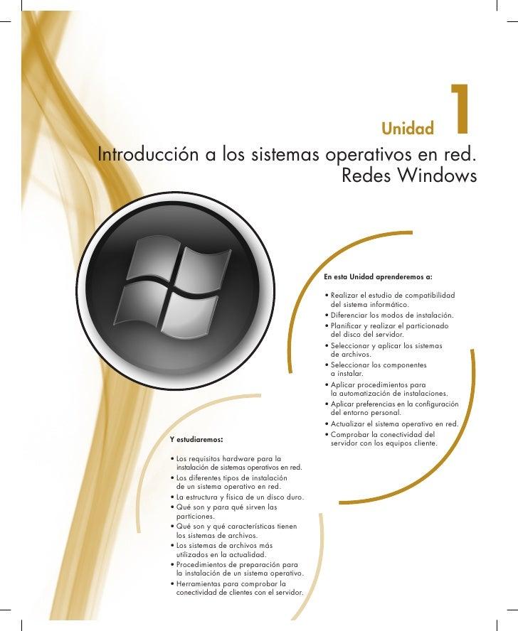 Introducción a los sistemas operativos en red.                                                                        Unid...