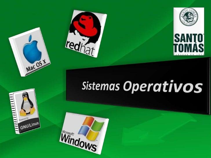 Sistemas Operativos DEFINICION:   Software básico de una computadora que       brinda una interfaz que permite la   inter...
