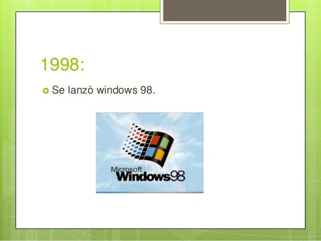 1998:  Se lanzò windows 98.