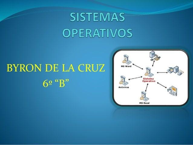 """BYRON DE LA CRUZ 6º """"B"""""""