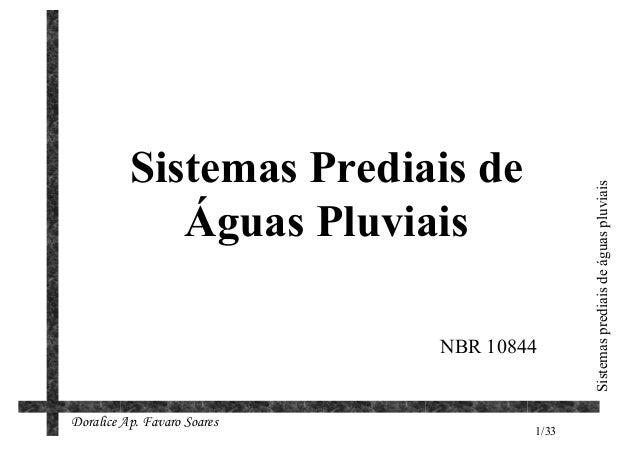 Sistemas Prediais de                                            Sistemas prediais de águas pluviais             Águas Pluv...