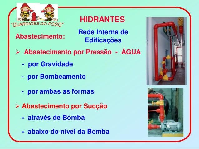HIDRANTES                    Rede Interna deAbastecimento:                     Edificações Abastecimento por Pressão - ÁG...