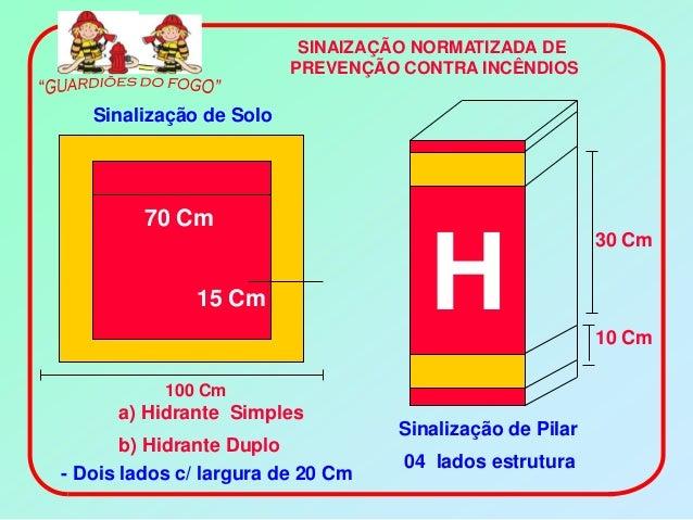 SINAIZAÇÃO NORMATIZADA DE                         PREVENÇÃO CONTRA INCÊNDIOS   Sinalização de Solo         70 Cm          ...