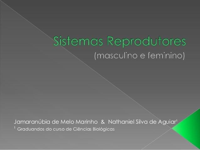 Jamaranúbia de Melo Marinho & Nathaniel Silva de Aguiar¹¹ Graduandos do curso de Ciências Biológicas