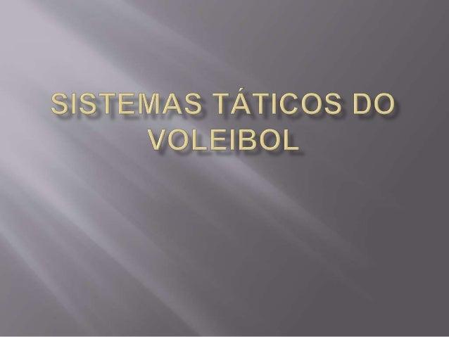 Antes de uma explicação a cerca de cada sistema, é  necessário explicar primeiro as posições do voleibol:  A posição nº 1 ...
