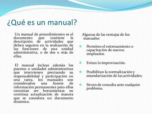 sistemas y procedimientos administrativos los manuales