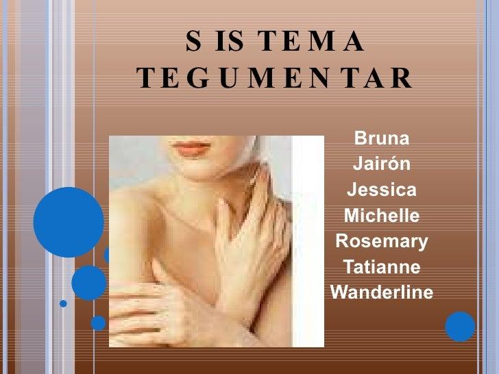 SISTEMA TEGUMENTAR Bruna Jairón Jessica Michelle Rosemary Tatianne Wanderline