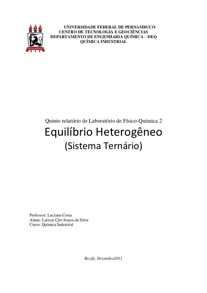 UNIVERSIDADE FEDERAL DE PERNAMBUCO               CENTRO DE TECNOLOGIA E GEOCIÊNCIAS            DEPARTAMENTO DE ENGENHARIA ...