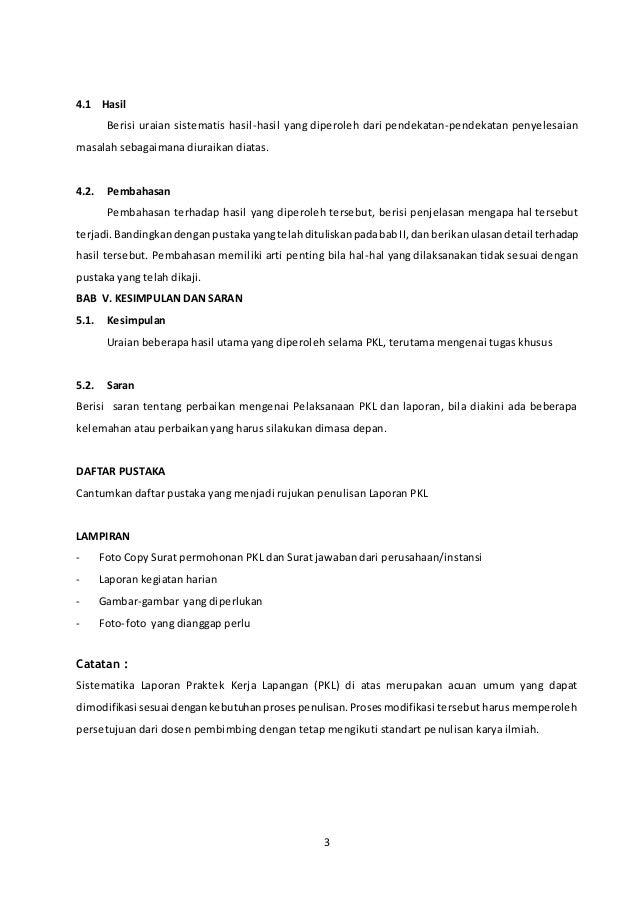 Contoh Sistematika Penulisan Laporan Prakerin Seputar Laporan
