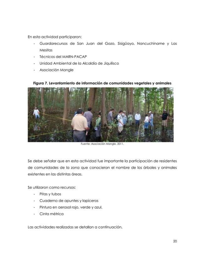 En esta actividad participaron:   -   Guardarecursos de San Juan del Gozo, Sisigüayo, Nancuchiname y Las       Mesitas   -...