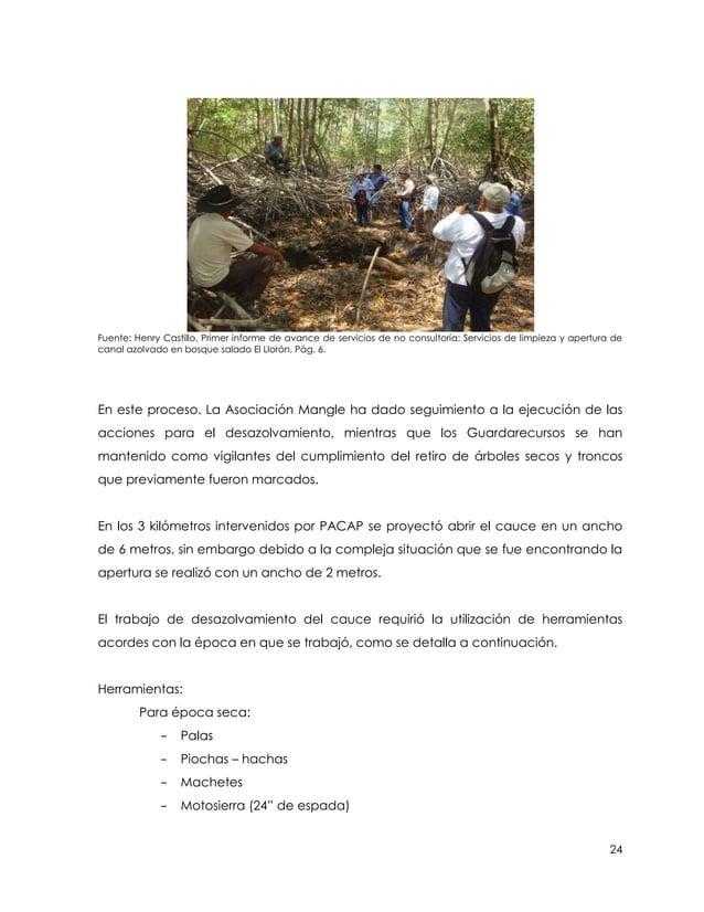 Fuente: Henry Castillo, Primer informe de avance de servicios de no consultoría: Servicios de limpieza y apertura decanal ...