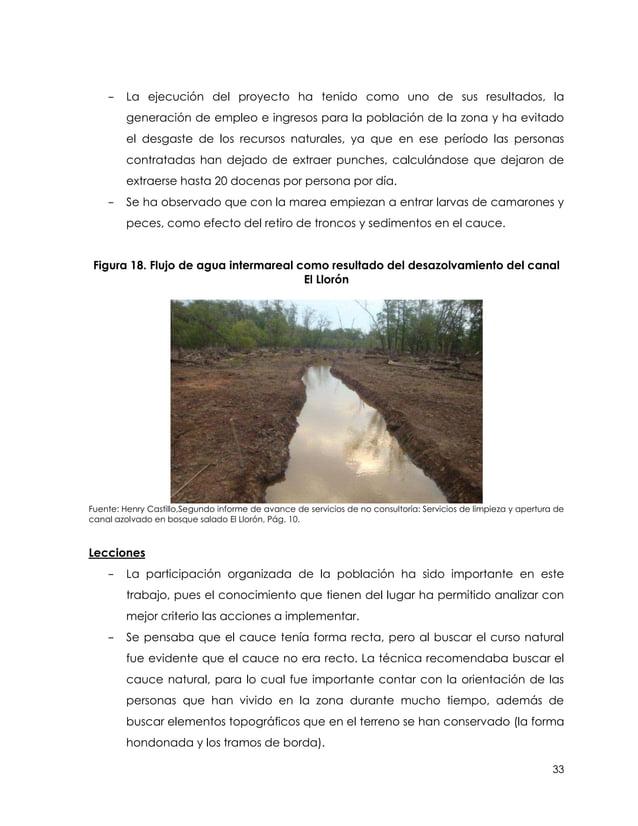 -    La ejecución del proyecto ha tenido como uno de sus resultados, la         generación de empleo e ingresos para la po...