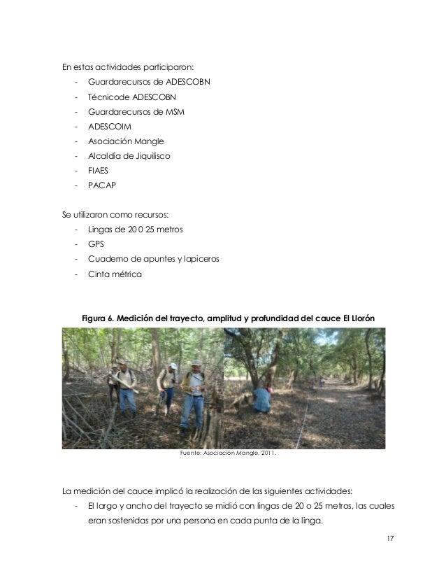 En estas actividades participaron:   -    Guardarecursos de ADESCOBN   -    Técnicode ADESCOBN   -    Guardarecursos de MS...