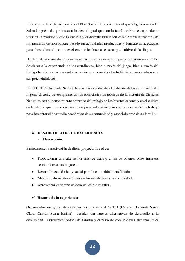 12 Educar para la vida, así predica el Plan Social Educativo con el que el gobierno de El Salvador pretende que los estudi...