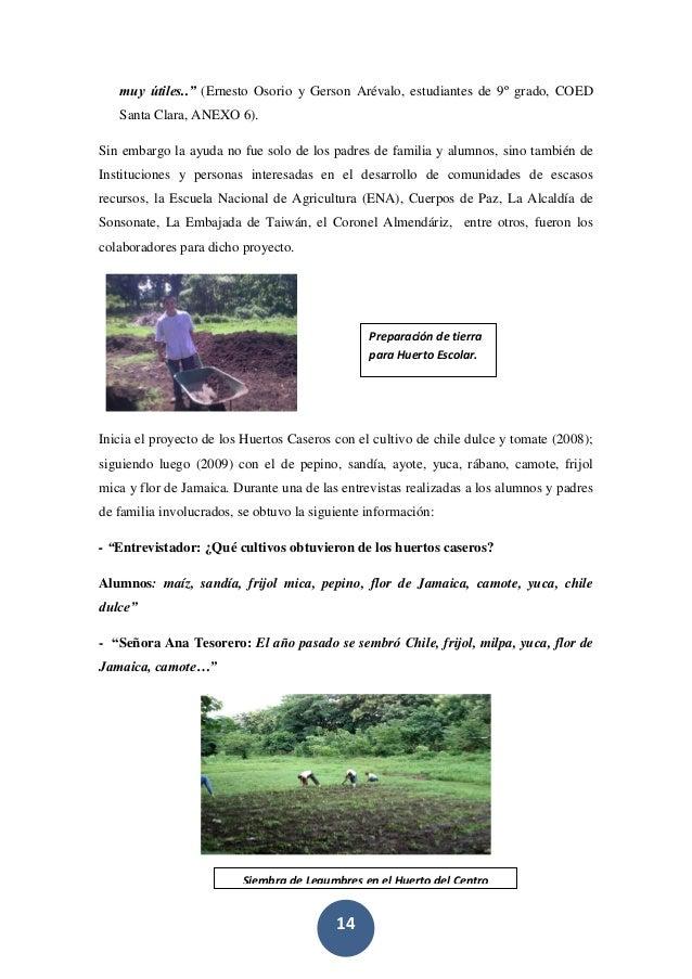 """14 muy útiles.."""" (Ernesto Osorio y Gerson Arévalo, estudiantes de 9º grado, COED Santa Clara, ANEXO 6). Sin embargo la ayu..."""