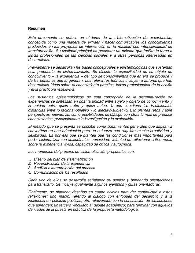 Sistematización de Experiencias Educativas. CECCSICA. Compilación.