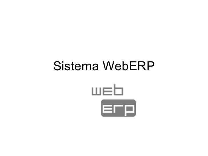 Sistema WebERP