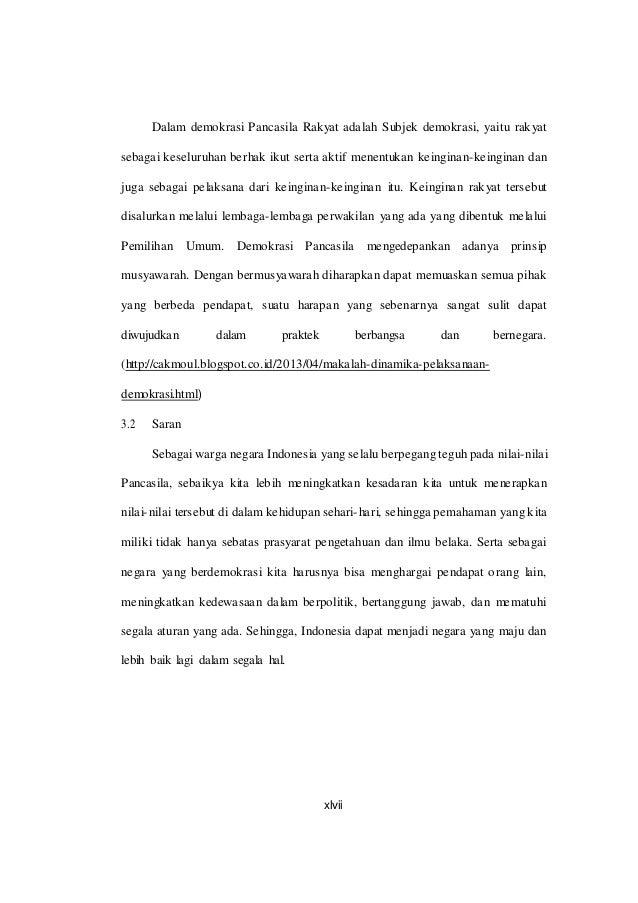 Sistem Dan Dinamika Demokrasi Pancasila Blog Dikonversi