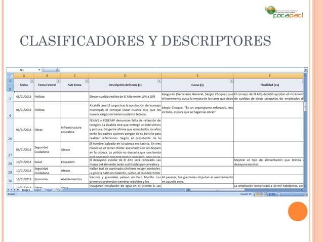 CLASIFICADORES Y DESCRIPTORES