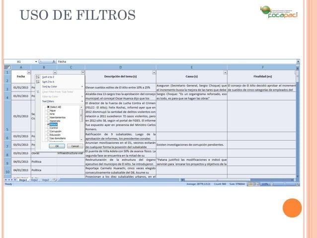 USO DE FILTROS