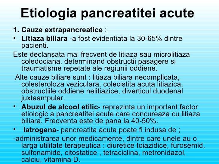 pancreatita acuta cauze
