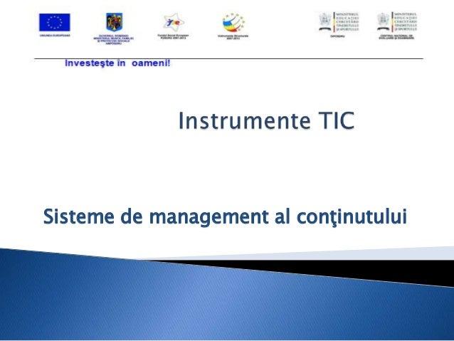 Sisteme de management al conţinutului