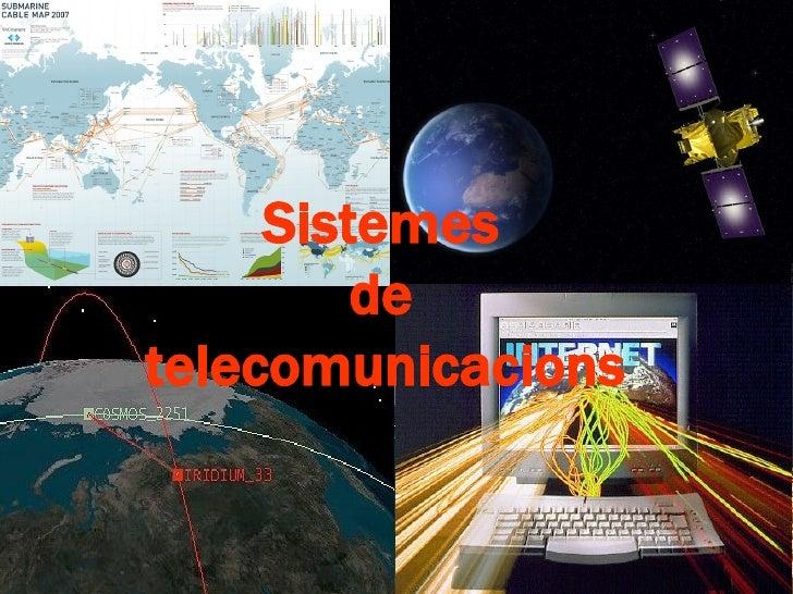 Sistemes         detelecomunicacions