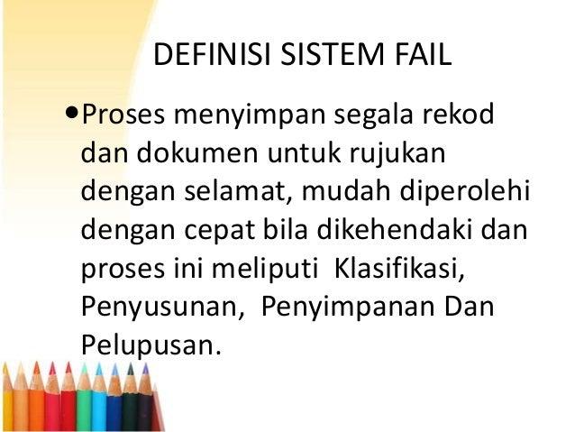 Sistem fail sekolah Slide 3