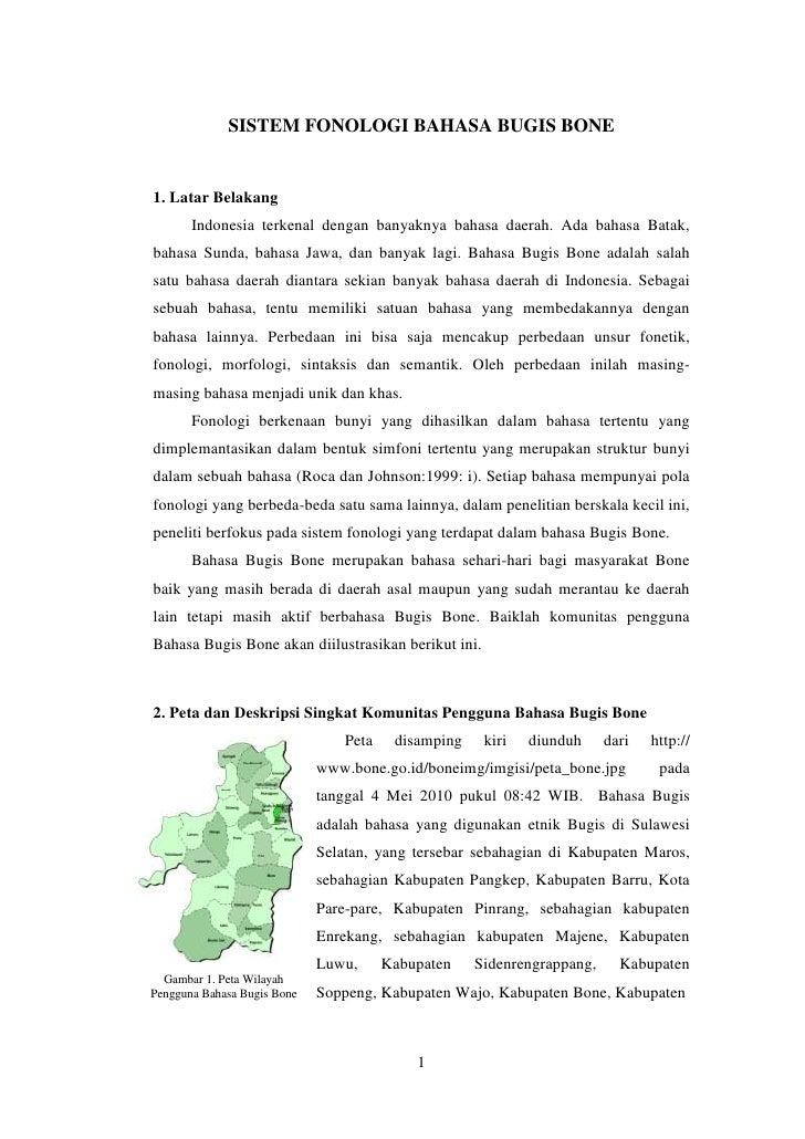 Sistem Fonologi Bahasa Bugis Bone (sfbbb) kelompok jun