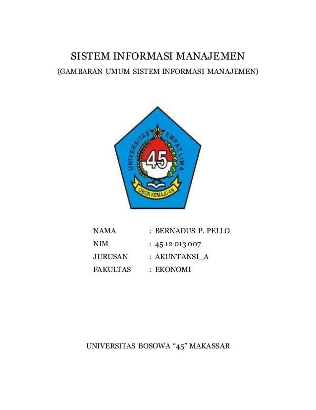 Makalah Sistem Informasi Manajemen Gambaran Umum Sim