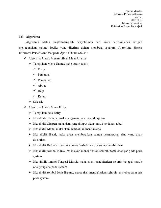 Sistem informasi persediaan obat pada apotik dunia pem belian 41 ccuart Images