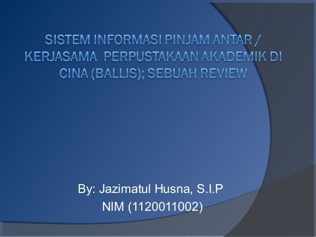 By: Jazimatul Husna, S.I.P NIM (1120011002)