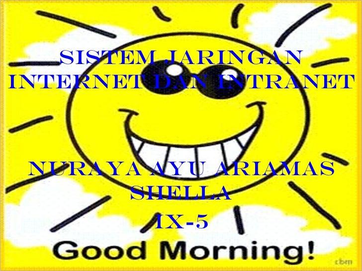 SISTEM JARINGAN INTERNET DAN INTRANET NURAYA AYU ARIAMAS SHELLA IX-5