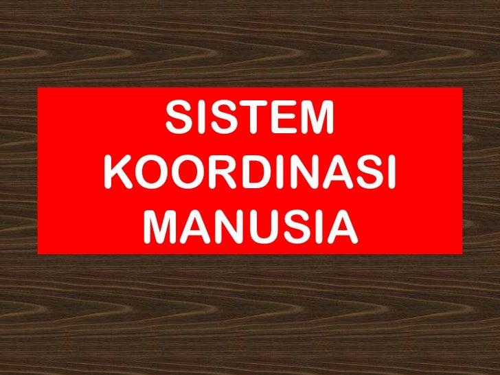 SISTEMKOORDINASI MANUSIA